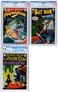 Silver Age (1956-1969):Miscellaneous, DC Silver Age CGC-Graded Superhero Comics Group of 3 (DC, 1967-69) CGC VF- 7.5.... (Total: 3 Comic Books)