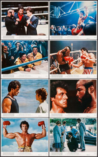 "Rocky III (United Artists, 1982). Mini Lobby Card Set of 8 & Photos (22) (8"" X 10""). Sports. ... (Total: 3..."