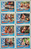 "Movie Posters:Adventure, Tarzan's Peril (RKO, 1951). Lobby Card Set of 8 (11"" X 14"").Adventure.. ... (Total: 8 Items)"