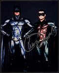 "Movie Posters:Action, Batman Forever (Warner Brothers, 1995). Autographed Color Convention Photo (8"" X 10""). Action.. ..."