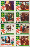 """Movie Posters:War, This Above All (20th Century Fox, R-1952). Lobby Card Set of 8 (11""""X 14""""). War.. ... (Total: 8 Items)"""
