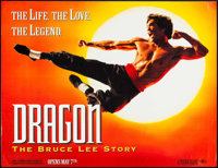 "Dragon: The Bruce Lee Story (Universal, 1993). Subway (45.75"" X 60"") Advance. Action"