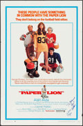 "Movie Posters:Sports, Paper Lion (United Artists, 1968). Autographed One Sheet (27"" X 41""). Sports.. ..."