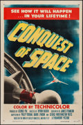 """Movie Posters:Science Fiction, Conquest of Space (Paramount, 1955). One Sheet (27"""" X 41""""). Science Fiction.. ..."""