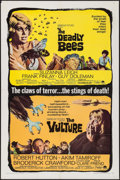 "Movie Posters:Horror, The Deadly Bees/The Vulture Combo (Paramount, 1967). One Sheet (27""X 41""). Horror.. ..."