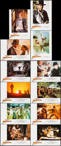 "Movie Posters:Adventure, Raiders of the Lost Ark (Paramount, 1981). Spanish Lobby Card Setof 12 (9.5"" X 13.5""). Adventure.. ... (Total: 12 Items)"