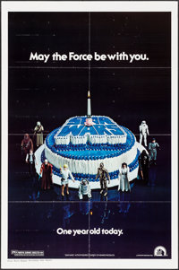 "Star Wars (20th Century Fox, 1978). One Sheet (27"" X 41""). Happy Birthday Style. Science Fiction"