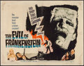 "Movie Posters:Horror, The Evil of Frankenstein (Universal, 1964). Half Sheet (22"" X 28"").Horror.. ..."