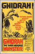 "Movie Posters:Science Fiction, Ghidrah, the Three-Headed Monster (Continental, 1964). One Sheet (27"" X 41""). Science Fiction.. ..."