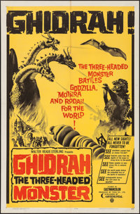 "Ghidrah, the Three-Headed Monster (Continental, 1964). One Sheet (27"" X 41""). Science Fiction"