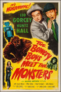 "Movie Posters:Comedy, The Bowery Boys Meet the Monsters (Allied Artists, 1954). One Sheet(27"" X 41""). Comedy.. ..."