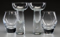 Decorative Arts, Continental, Four Iittala Clear Glass Vases designed by Tapio Wirkkala, late20th century. Marks: (Iittala labels). 6-1/4 inches high (15...(Total: 4 Items)