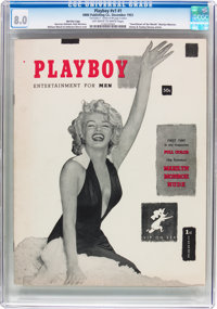 Playboy #1 Red Star Copy Signed by Tom Kelley, Jr. (HMH Publishing, 1953) CGC VF 8.0 Off-white to white pages