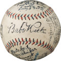 Baseball Collectibles:Balls, 1926 New York Yankees Team Signed Baseball from The Lou GehrigCollection--Finest Example Known....
