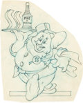 "Animation Art:Production Drawing, ""Happy"" World War II Insignia Art by Hank Porter (Walt Disney, c.1940s). ..."