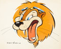 Animation Art:Production Drawing, Lion Head War II Insignia Painting (Walt Disney, c. 1940s). ...
