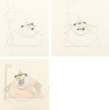 Animation Art:Color Model, Sleeping Beauty Goon Guard Color Model Animation DrawingsGroup of 3 (Walt Disney, 1959). ... (Total: 3 Items)