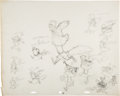 Animation Art:Concept Art, Robin Hood Practice Sketches Page by Milt Kahl (Walt Disney,1973). ...