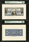 Canadian Currency, Montreal, PQ- Banque Canadienne Nationale $20 Feb. 1, 1925 Ch. #85-10-06P Face and Back Proofs.. ...