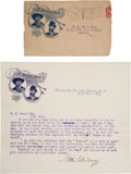 "Autographs:Celebrities, [William F. ""Buffalo Bill"" Cody]: Nate Salsbury Typed Letter Signed...."