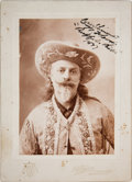 "Autographs:Celebrities, William F. ""Buffalo Bill"" Cody: Inscribed Cabinet Card...."