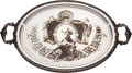 Political:3D & Other Display (pre-1896), George Washington: Tour-de-Force Silver-Plated Serving Tray....