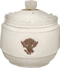 Antiques:Decorative Americana, Federal Period: Castleford Sugar Bowl with Numismatic Motifs....