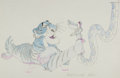 Animation Art:Color Model, The Jungle Book Kaa and Shere Khan Color Model Animation Drawing (Walt Disney, 1967). ...