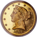 Proof Liberty Half Eagles, 1864 $5 PR64 Cameo PCGS. The inherent rarity and h...