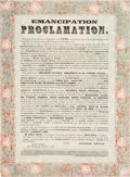 Political:Small Paper (pre-1896), Abraham Lincoln: Decorative Chicago Imprint of the EmancipationProclamation....