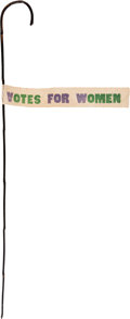 Political:3D & Other Display (1896-present), Woman's Suffrage: A Fine Bamboo Parade Cane. ...