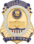Political:Miscellaneous Political, White House: 1992 Bicentennial Security Services Badge....