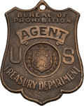 Miscellaneous:Ephemera, Law Enforcement: 1920s Bureau of Prohibition Badge....
