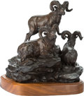Sculpture, Clark Everice Bronson (American, b. 1939). Lofty View, 1974. Bronze with brown patina. 13 inches (33.0 cm) high on a 2 i...