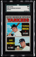 Baseball Cards:Singles (1970-Now), 1970 Topps Thurman Munson - Yankees Rookies #189 SGC 84 NM 7....