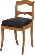Furniture : Continental, A French Country Side Chair. 33-3/4 h x 18 w x 19-1/2 d inches(85.7 x 45.7 x 49.5 cm). PROPERTY FROM THE RITTER ANTIK COL...
