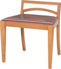 Furniture : Continental, A Blondewood Low Vanity Chair, 20th century . 22 h x 21 w x 16 dinches (55.9 x 53.3 x 40.6 cm). ...