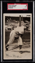 Autographs:Sports Cards, Signed C. 1953 Glenn Mickens Real Photo Post Card SGC-Authentic....