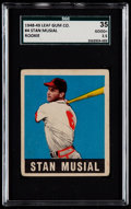 Baseball Cards:Singles (1940-1949), 1948 Leaf Stan Musial #4 SGC 35 Good+ 2.5....