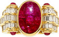 Estate Jewelry:Rings, Burma Ruby, Diamond, Gold Ring . ...