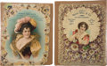 Advertising:Paper Items, Two Excellent Large Circa 1890 Advertising Die Cuts for LivestockCommission Co. ... (Total: 2 Items)