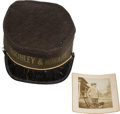 Political:3D & Other Display (1896-present), William McKinley: Child's Parade Cap and Photo....