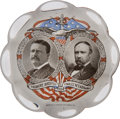 Political:3D & Other Display (1896-present), Roosevelt & Fairbanks: A Pristine 1904 Glass Paperweight. ...