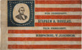 Political:Textile Display (pre-1896), Stephen Douglas: An Important 1860 Campaign Portrait FlagBanner....