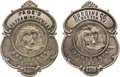 Western Expansion:Cowboy, Two Early Express Company Breast Badges....