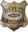 "Western Expansion:Cowboy, Early ""Deputy Marshal"" Badge, Circa 1880s-90s...."