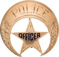 Western Expansion:Cowboy, Rare Gold New Orleans Police Badge....