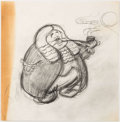 "Animation Art:Concept Art, ""Judge Pig"" Concept/Storyboard Drawing (undated)...."