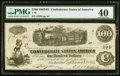 Confederate Notes:1862 Issues, T40 $100 1862 PF-1 Cr. 298. PMG Extremely F...