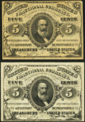 Fractional Currency:Third Issue, 5¢ Third Issue.. Fr. 1238 Choice About New;. Fr. 1239 About New.. ... (Total: 2 notes)